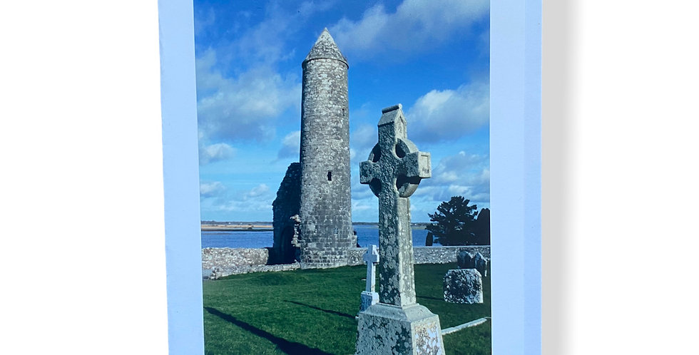 Celtic Cross and Round Tower Greetings Card