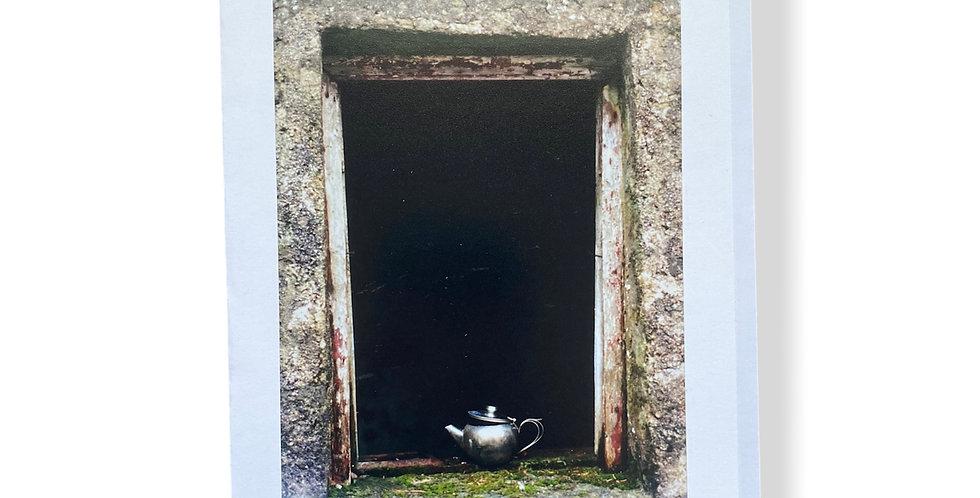 Irish Teapot in Window Greetings Card