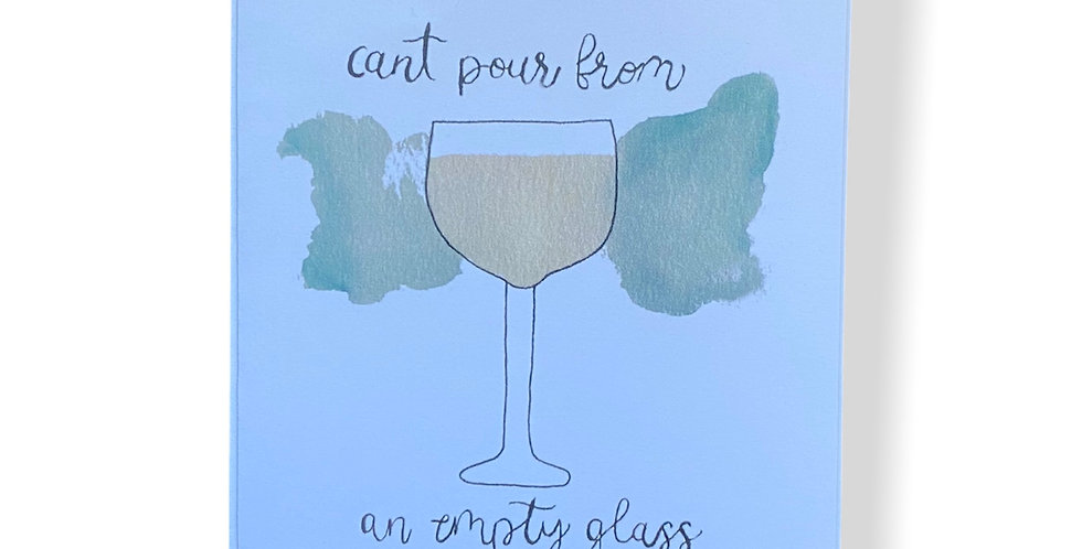 Wine Glass Greetings Card