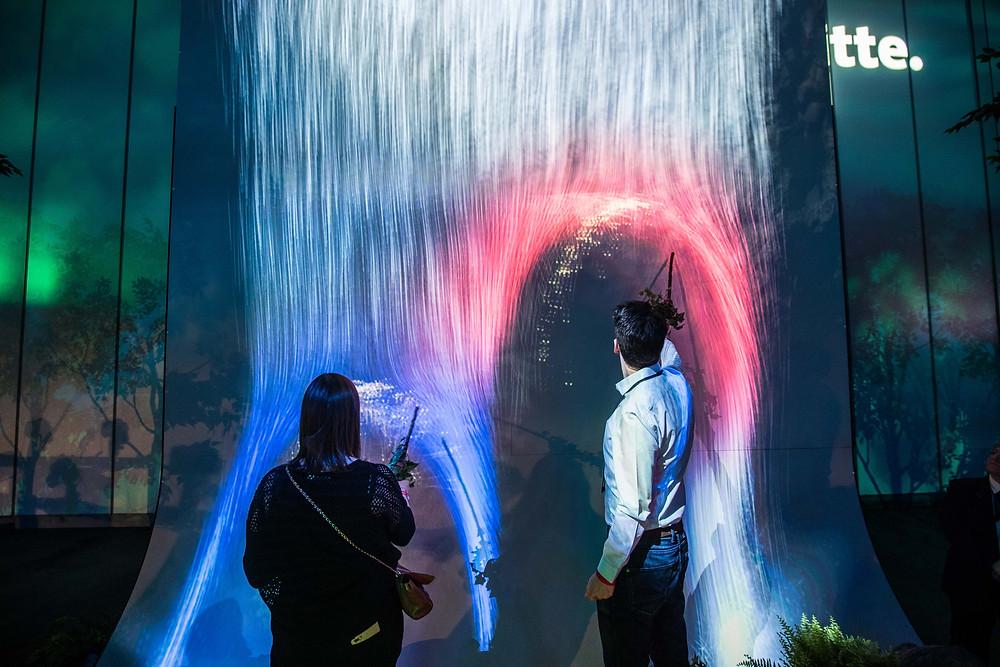Interactive Waterfall. Photographer - Bircan Tulga