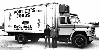 An older Porter Foods truck before the business became Fare Foods