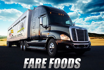 Fare Foods Trucking Fleet.  We deliver concession supplies to 44 states!