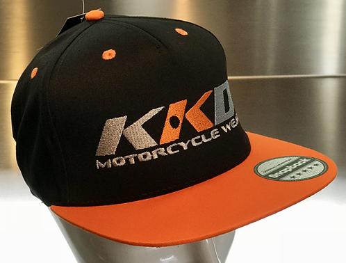 KKD Cap Snapback black-orange fluo