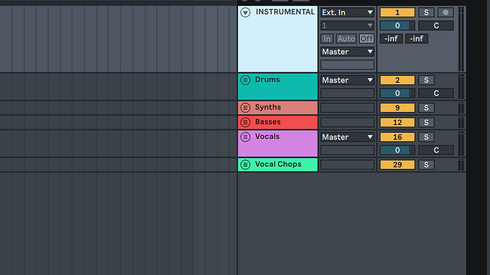 Unkle Ricky Ableton Live Production/ Recording Template