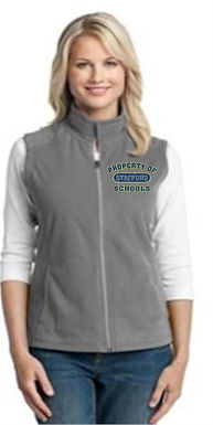 Microfleece Vest with Embroidery