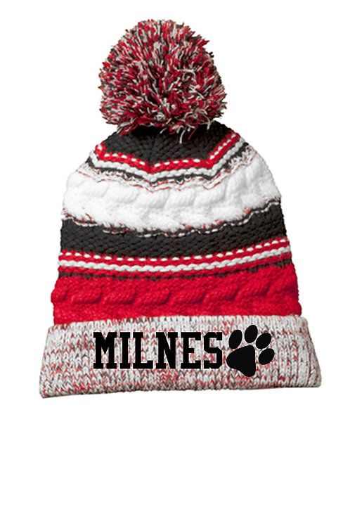 Milnes Pom Hat With Embroidery