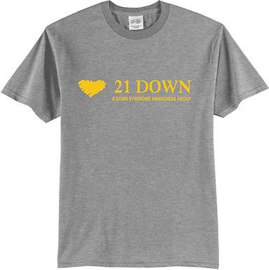 21 Down Grey T Shirt