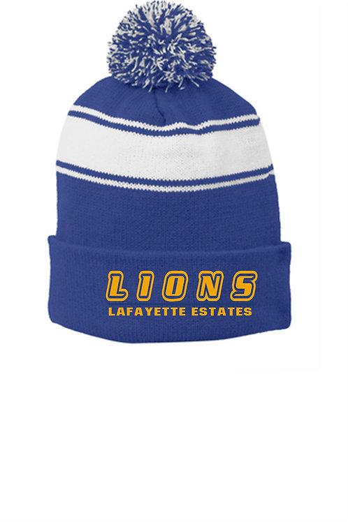Lafayette Pom Beanie With Embroidery