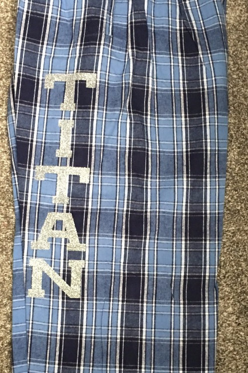 Titan Columbia Blue PJ Pant With Silver Glitter