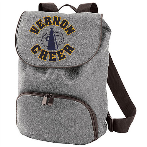 Vernon Cheer Glitter Backpack w/Embroidery