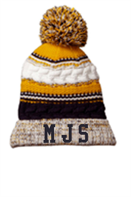 MJS Pom Hat With Embroidery