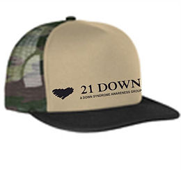 21 Down Camo Trucker Hat