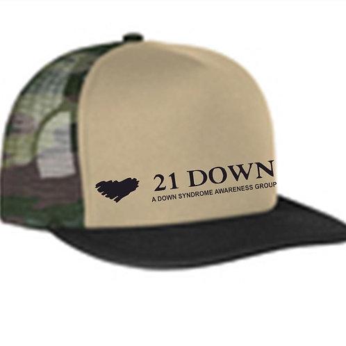 21 Down Camo Trucker Hat