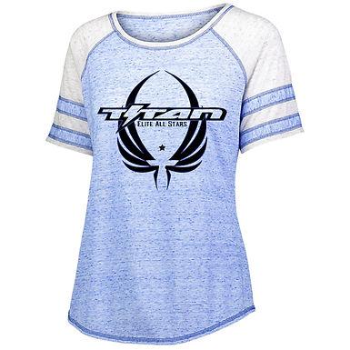 Titan Ladies Adcovate Short Sleeve Glitter or Screen print