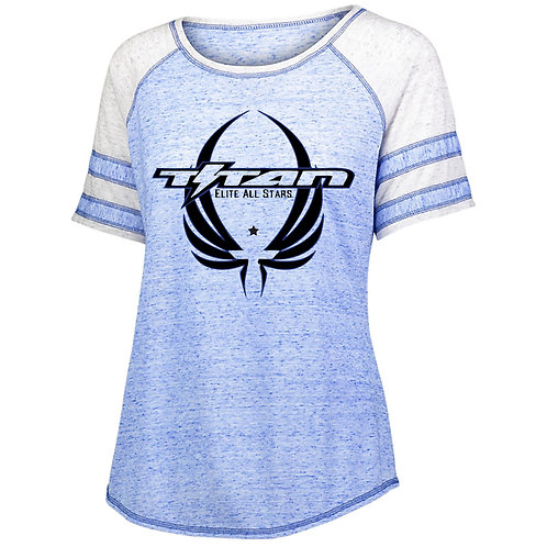 Titan Ladies Adcovate Short Sleeve Glitter or Screen print