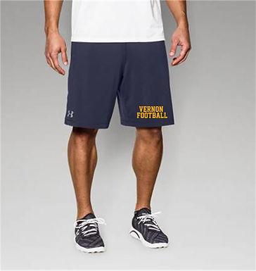 """UA Mens UA Raid 10"""" Shorts w/ 2 color imprint"""