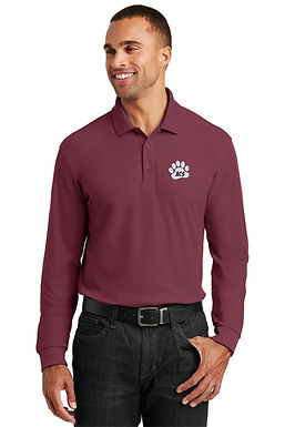 Anna C. Scott Ladies & Men's Knit Polo Long Sleeve