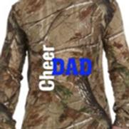 Titan Camo Cheer Dad Long Sleeve T Shirt