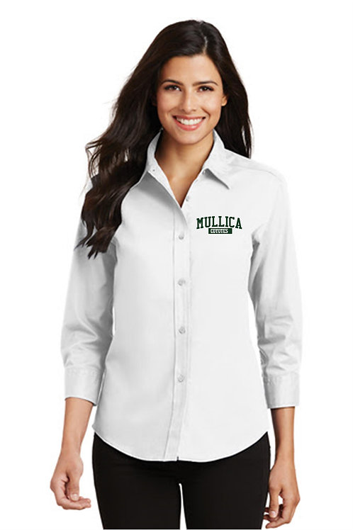 Mullica Ladies 3/4 Button Down