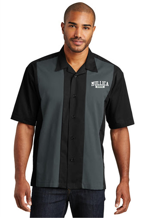 Mullica Retro Camp Shirt Embroidered