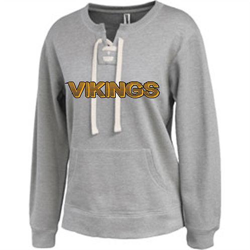 Vernon Women Lace Up Sweatshirt