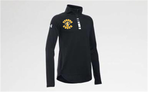 UA GIRLS TECH 1/4 ZIP w/embroidered left chest
