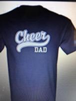 Black Titan Cheer Dad T Shirt