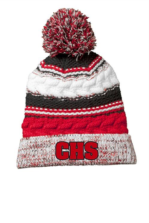Cherry Hill Pom Hat W/Embroidery