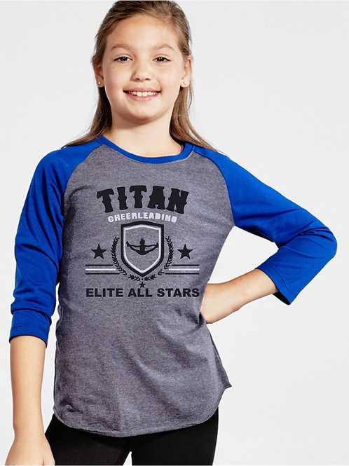 Titan Soffe Girls & Boys Raglan