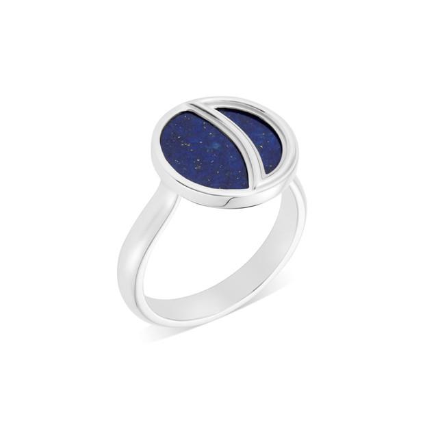 Lapis Lazuli Crescent Moon Ring