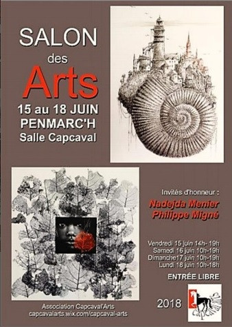 Salon des arts Penmarch(29) 15 au 18/06/2018