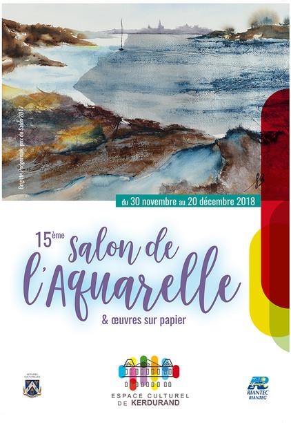 15e salon de l'aquarelle Riantec 2018