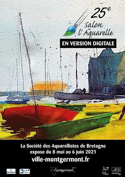 affiche salon aquarelle montgermont 2021