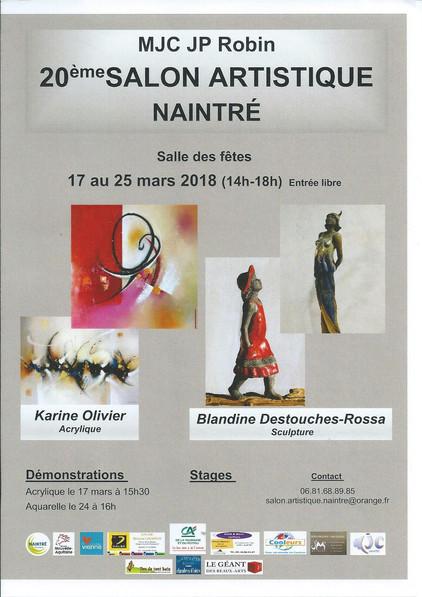 Salon artistique Naintré(86) 17 au 25/03/2018