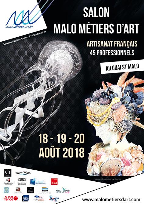 Salon Malo Métiers d'Art Saint-Malo(35) les 18-19-20/08/2018