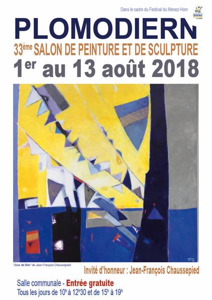 Salon de peinture et sculpture Plomodiern(29)  01 au 13/08 2018