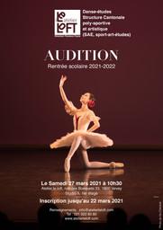 Audition SAE Danse-études 2021-2022 OUVERTE