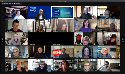 Screenshot of lots of attendees