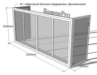 Трехсторонний балкон 71-68-60 Тула