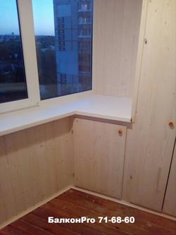 Встроенная мебель для лоджии в Туле.