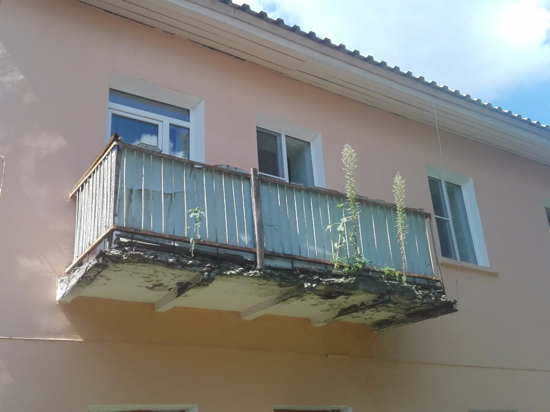 Балкон в Туле до ремонта