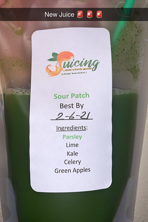 Sour Patch (parsley, kale, lime, celery, apples)