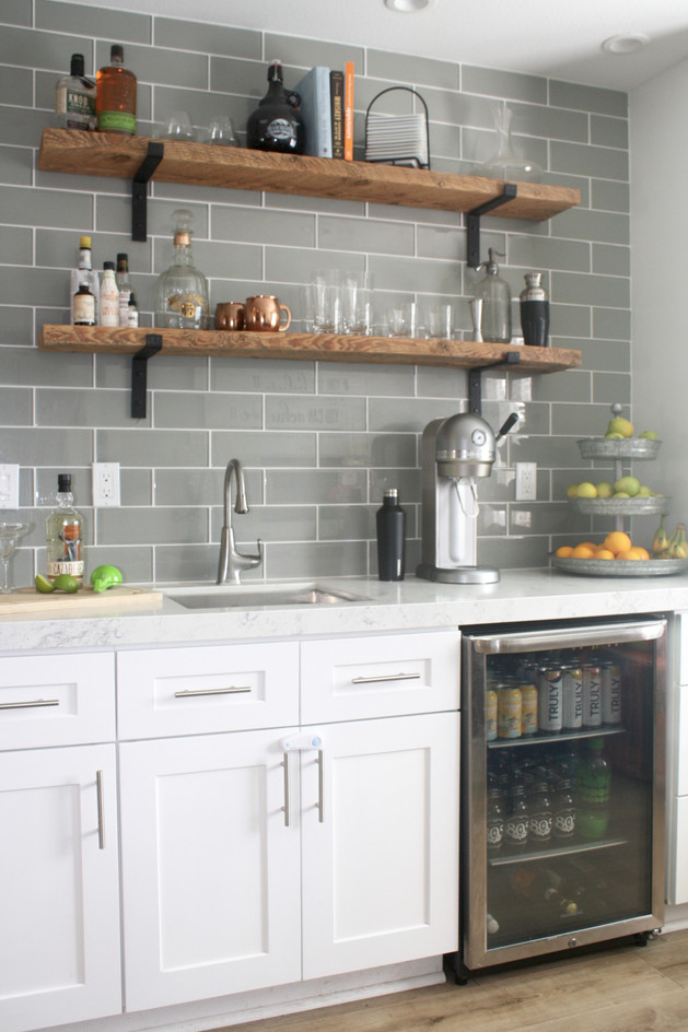 Industrial Modern Wet Bar