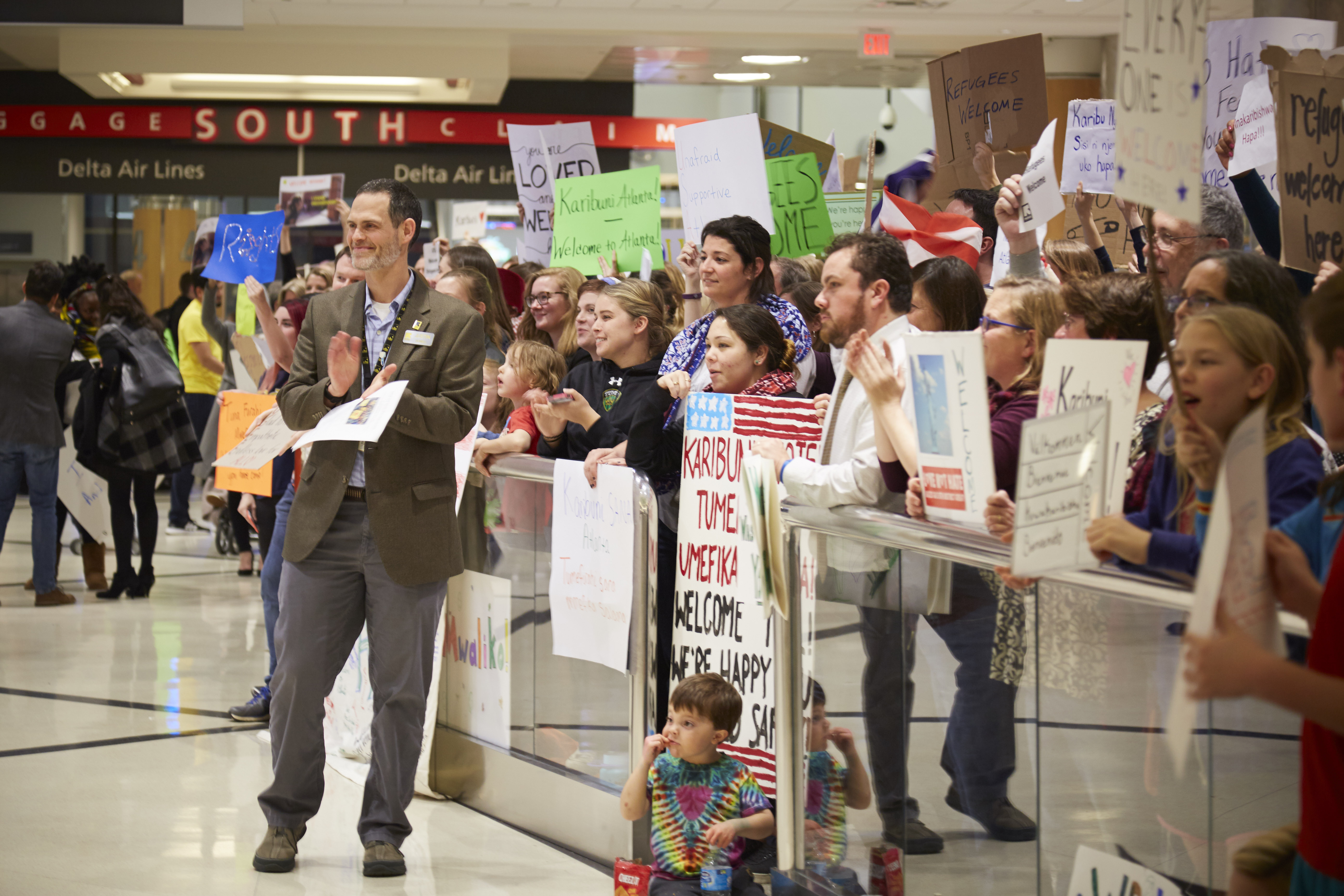 Airport rally