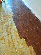 Condo project original glue-down floorin