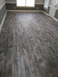 Warthan LVT installation in basement roo