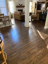 LR installed, stained_ Jacobean coated w