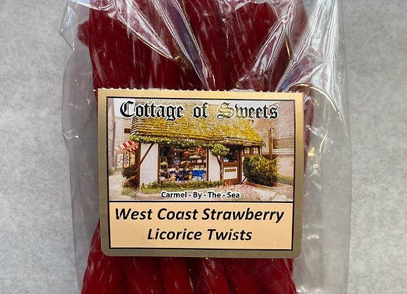 West Coast Strawberry Licorice Twists