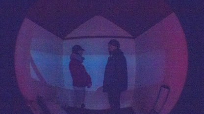 Karen Simpson & Nicholas Godsell experimenting with 'Camera Obscura'