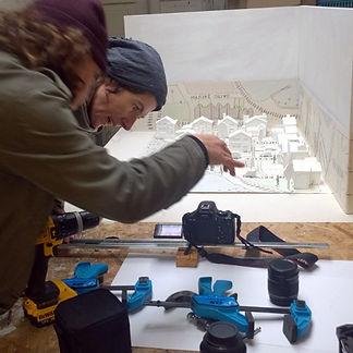 Al Reffell & Nicholas Godsell filming 'Imagined Village' - Photo: Rob Turner